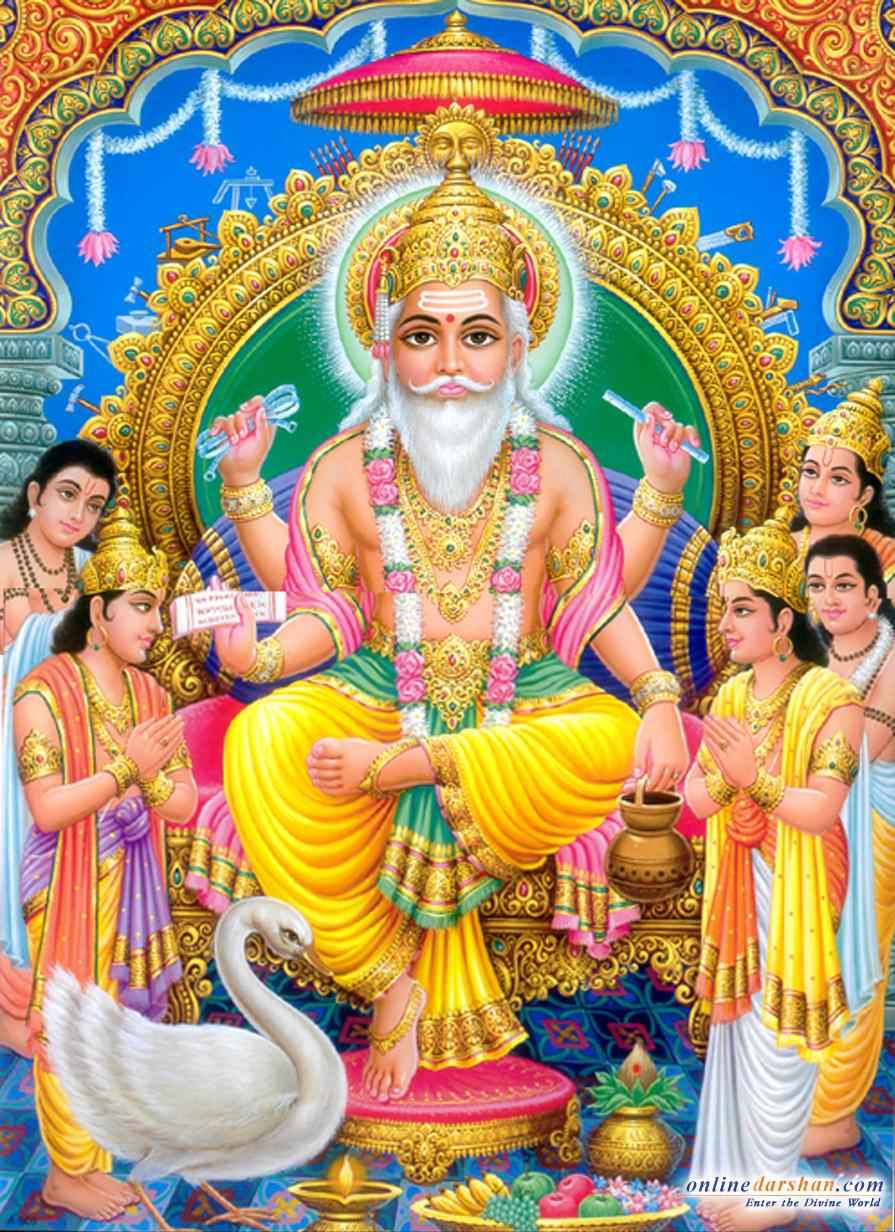 Lord Brahma Hindu God