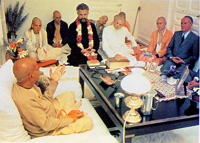 Srila Prabhupada with Father Emmanuel