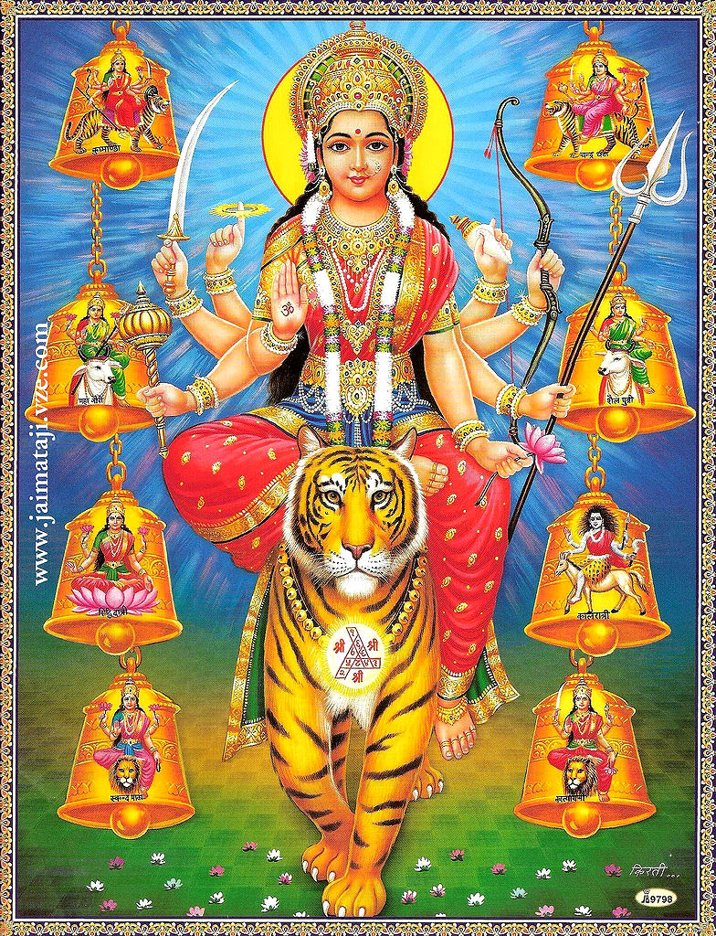 Nine Different Ways You Can Put Your Goals In Writing: Nava-Durga The Nine Forms Of Goddess Durga