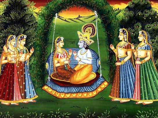 Asta-kaliya-nitya-lila Radha Krishna's eternal eightfold daily pastimes