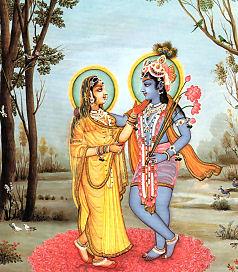 Radha Krishna Lotus