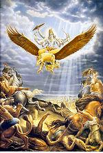 Garuda - the carrier of Lord Visnu