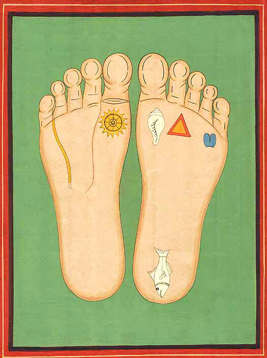 The Sublime Essence Of The Lotus Feet Of Sri Sri Radha Krishna