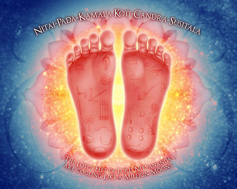 The Lotusfeet of Lord Nityananda