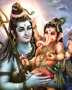Shiva and Ganapati