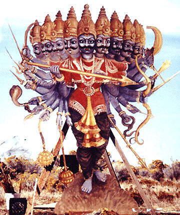 Ravana, the ten headed demon